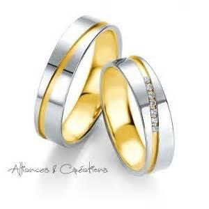 alliances mariage alliance bicolore alliances créations vioz