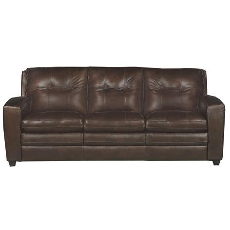 Contemporary Leather Sofa Bed by Modern Contemporary Mahogany Brown Leather Sofa Bed