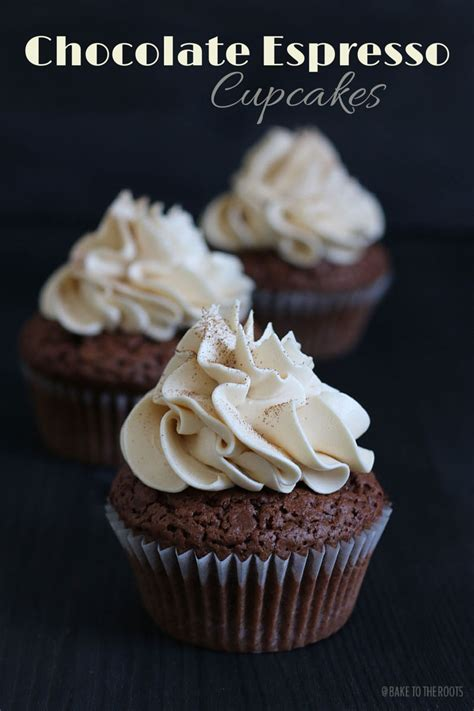Chocolate peanut butter cake with frosting. Chocolate Espresso Cupcakes   Bake to the roots