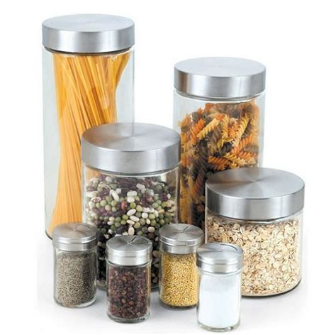 what to put in kitchen canisters cook home glass canister spice jar set kitchen storage
