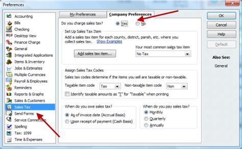 setting  sales tax  quickbooks accountex report