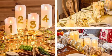 centro tavola con candele come fare decorazioni con candele di natale luminal park