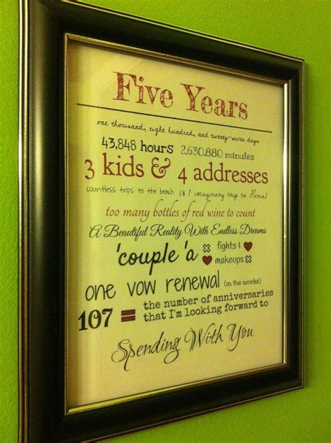 5 year anniversary quot our story quot printable this would be
