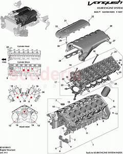 Aston Martin Vanquish  2012   Engine Structure Parts