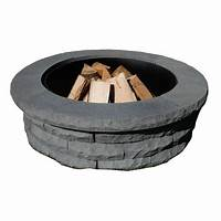 fire pit rings Nantucket Pavers Ledgestone 47 in. Concrete Fire Pit Ring ...