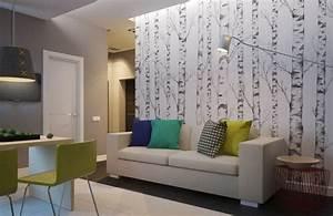 Wände Farblich Gestalten Beispiele : tapete wohnzimmer gestalten ~ Markanthonyermac.com Haus und Dekorationen
