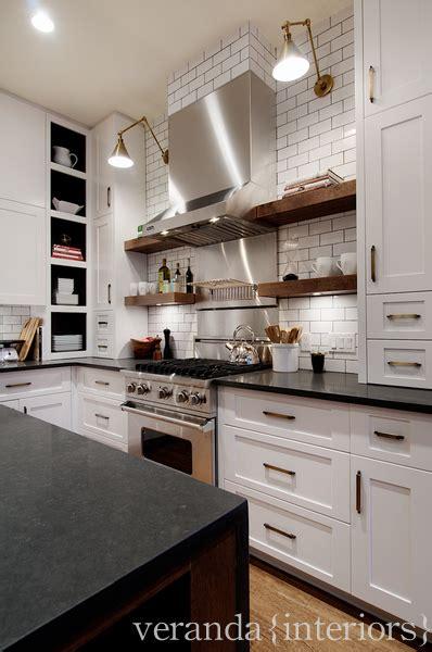 floating shelves contemporary kitchen veranda interiors