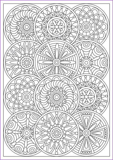 mandala coloring page  adult  doodle zentangle art pattern printable doodle flowers