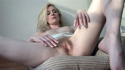 Cate Teases Her Hot Blonde Pussy