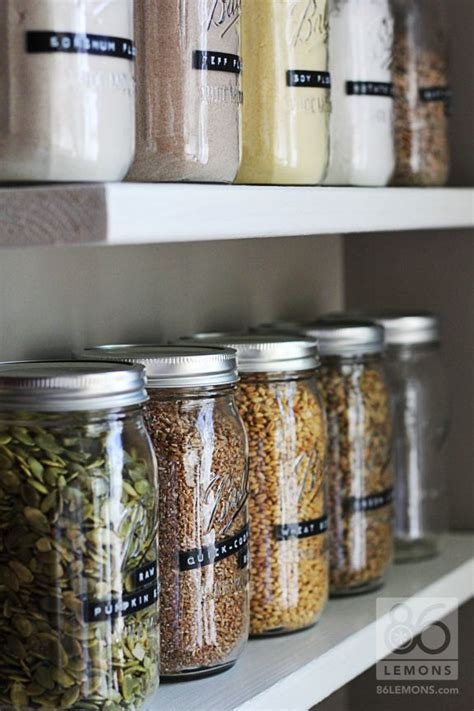 storage jars for kitchen open pantry shelves with canning jars 86lemons 5879