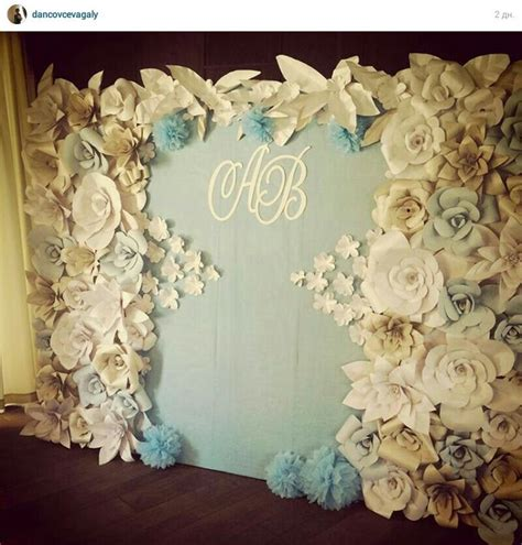 paper flowers backdrop wedding paper backdrop