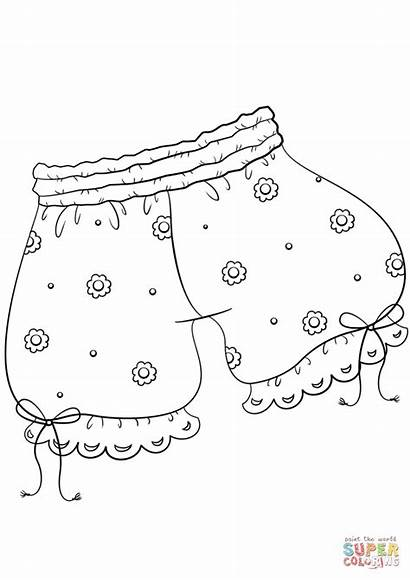 Ropa Interior Colorear Dibujos Dibujo Coloring Underwear