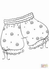 Coloring Underwear Pages Printable Template Drawing Paper Dot sketch template