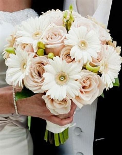 Wedding Bouquet Gerber Daisy And Rose Bouquet 2158777