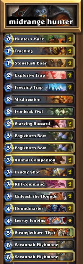 Deck Of The Week #18 Midrange Hunter  Blizzpro's Hearthstone
