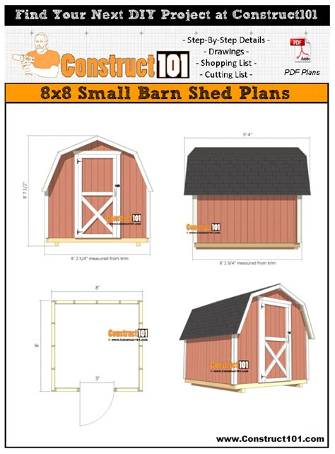 small barn shed plans   construct