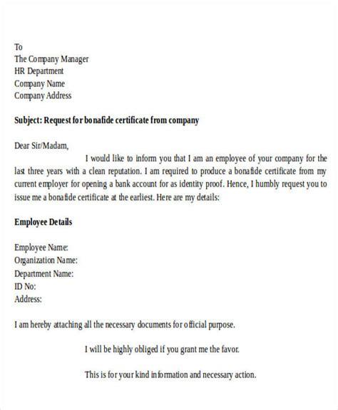 request letter  school bonafide certificate
