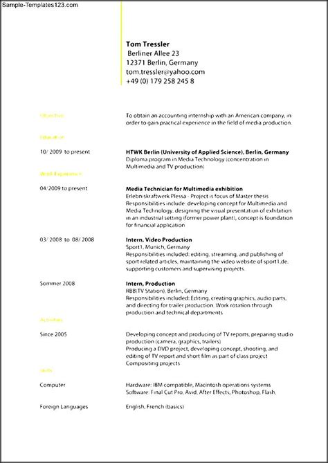 standard format of resume 28 images help with standard