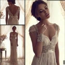 ivory lace bridesmaid dresses ivory wedding dress loaded with rhinestones 2041384 weddbook