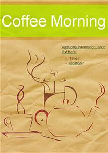 Create Word Template 2010 Early Learning Resources Editable Coffee Morning Poster