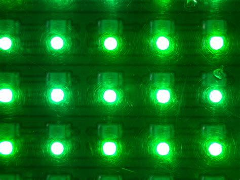 image after photos led lights green matrix