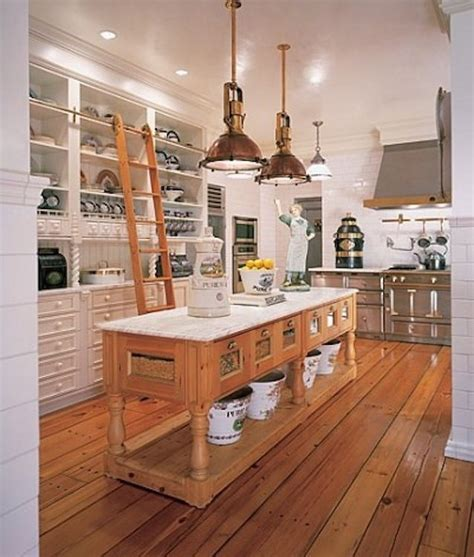 wooden kitchen island legs repurposed reclaimed nontraditional kitchen island