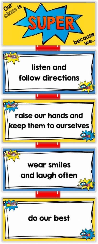 Classroom Rules Clipart Rule Preschool Superhero Theme