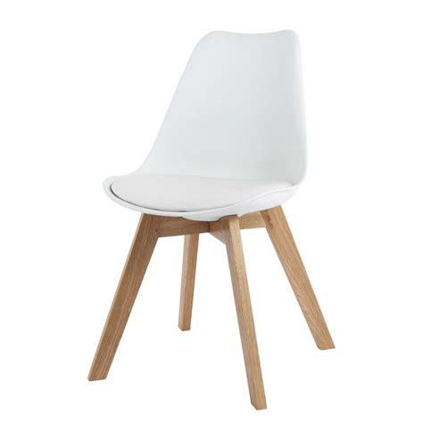 maison du monde chaise de bureau chaise en polypropylène et chêne blanche maisons du