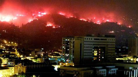 los grandes incendios  han afectado  valparaiso en el
