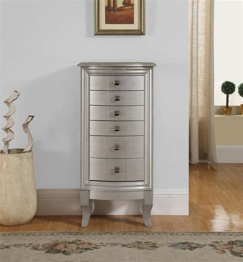 Jewerly Armoir by Natalie Jewelry Armoire Silver