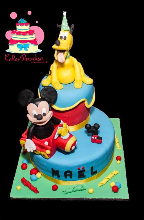 gateau pate a sucre mickey g 226 teau mickey et pluto cakes paradise