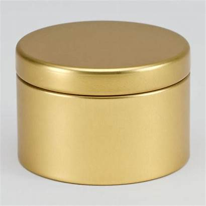 Blikken Doosje Gouden Rond Nieuwigheden Metalen Goud