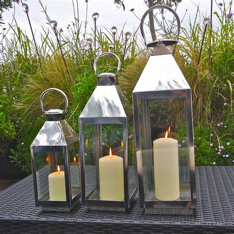outdoor lantern lights st mawes hurricane garden lantern by garden trading