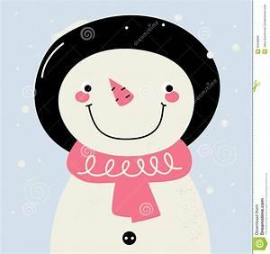 Cute retro Snowman stock vector. Image of celebrate ...