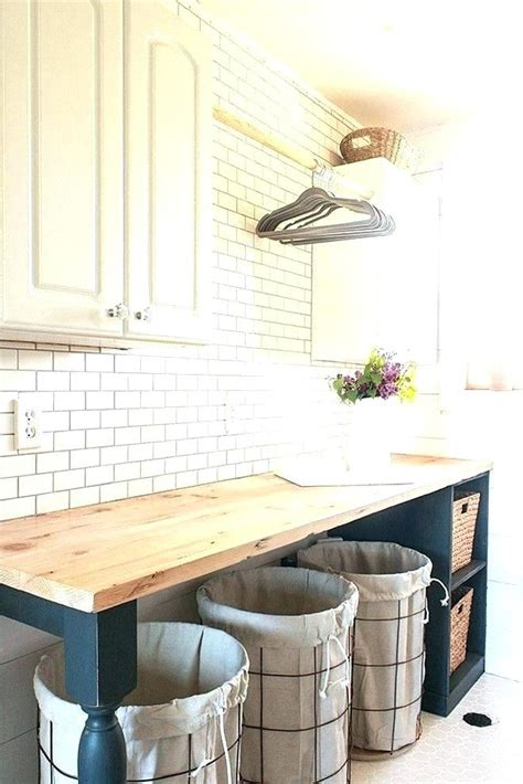 Laundry Room Table With Storage Folding And Incredible