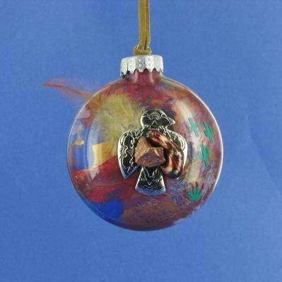 southwest handpainted glass christmas ornament joe