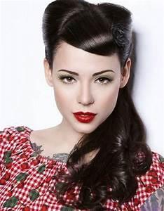 Coiffure Année 50 Pin Up : coiffure vintage pin up coiffure vintage nos plus belles inspirations pour un look glamour ~ Melissatoandfro.com Idées de Décoration