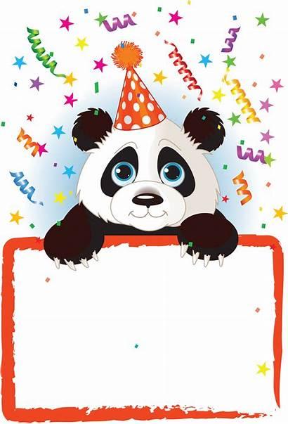 Panda Party Birthday Happy Transparent Hat Cards