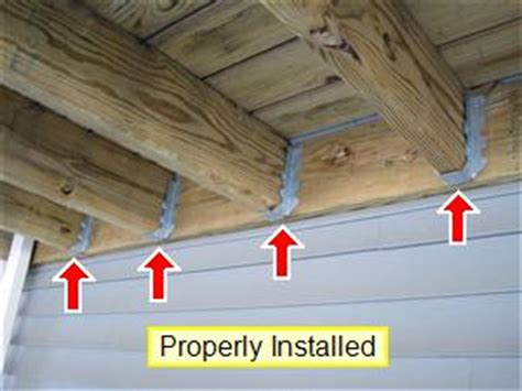 deck joist hangers hardware exterior inspection your home inspection checklist