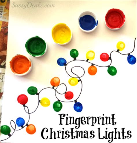 christmas lights for crafts fingerprint light craft for diy card idea crafty morning