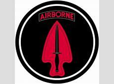 Special Forces Airborne USASOC Black & Red Logo Car Door