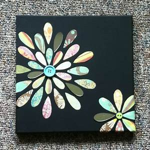 Simple Canvas art! Dollar store canvas, paint black with ...