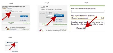ebay bid how to cancel a bid ebay