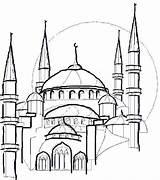 Coloring Mosque Eid Drawing Colouring Masjid Line Islam Colour Ramadan Getdrawings Mecca Sheets Sheet Learn Familyholiday Taj Mahal Holiday sketch template