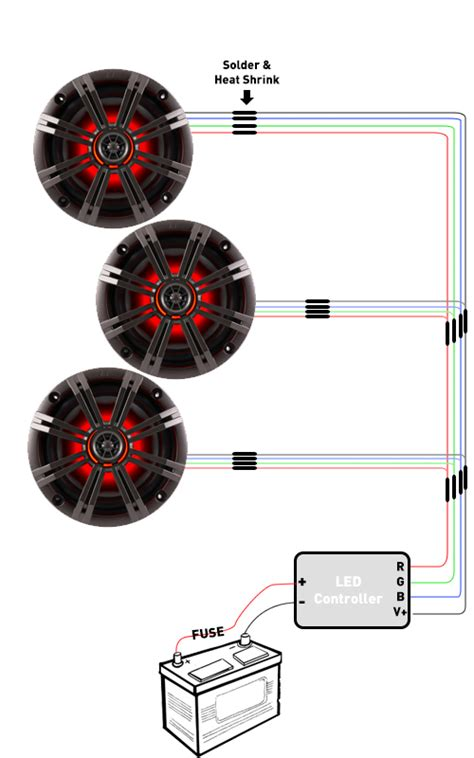 led wiring for rgb speakers and rings creative audio