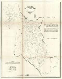 Map Antique  Tillamook Bay Oregon  Government Land Office