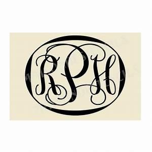 Custom 3 letter monogram 12x8 stencil for Large monogram letter stencil