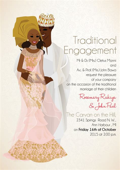 HD wallpapers african wedding invitations samples