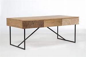 Table Basse Bois Metal : table basse manguier ~ Teatrodelosmanantiales.com Idées de Décoration