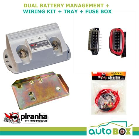 Dual Battery Wiring Fuse Box by Piranha Dual Battery Tray 140a Kit Hilux 1kd Ftv 3 0l